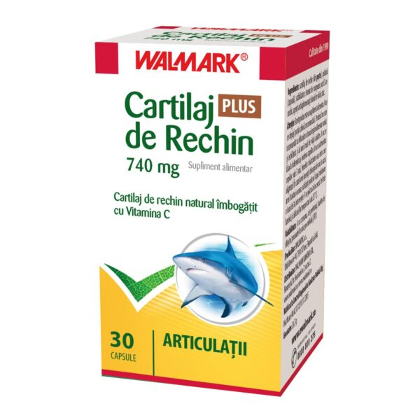 Cartilaj de Rechin Plus 740 mg cu Vitamina C 30 capsule Walmark